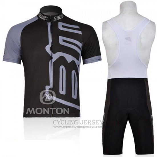 2011 Cycling Jersey BMC Black Short Sleeve and Bib Short