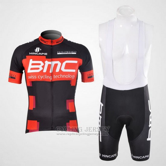 2012 Cycling Jersey BMC Black and Red Short Sleeve and Bib Short