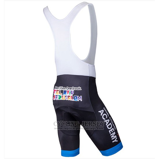 2018 Cycling Jersey Israel Cycling Academy White and Bluee Short Sleeve and Bib Short