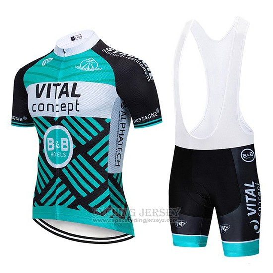 2019 Cycling Jersey Vital Concept Blue White Black Short Sleeve and Bib Short