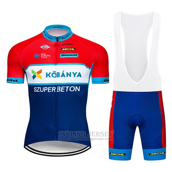 2019 Cycling Jersey Kobanya Red White Blue Short Sleeve and Overalls
