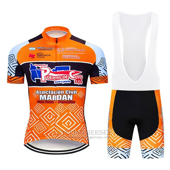 2019 Cycling Jersey Mardan Orange Short Sleeve and Overalls