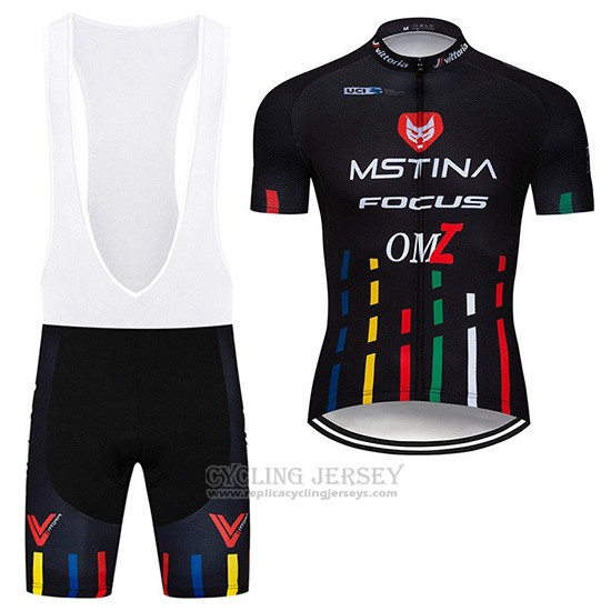 2019 Cycling Jersey Mstina Focus Black Short Sleeve and Overalls