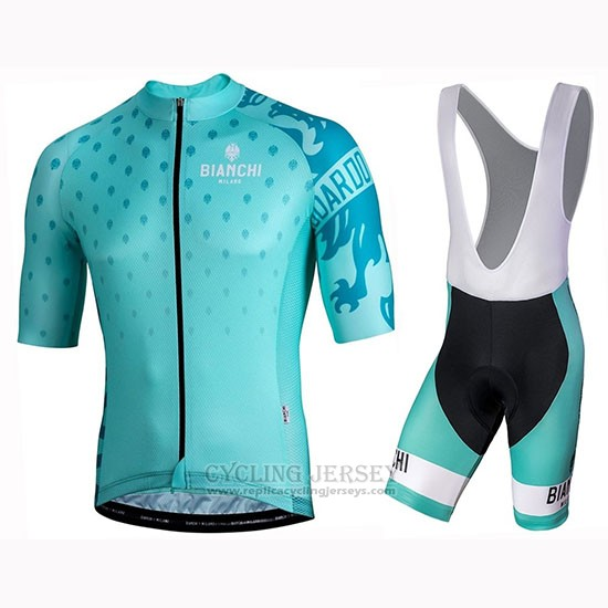 2019 Cycling Jersey Bianchi Mtx Green Short Sleeve and Bib Short