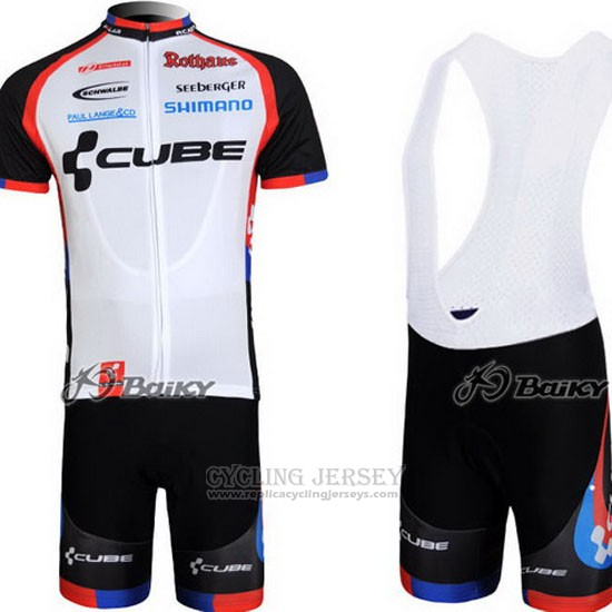 2011 Cycling Jersey Cube Black and White Short Sleeve and Bib Short