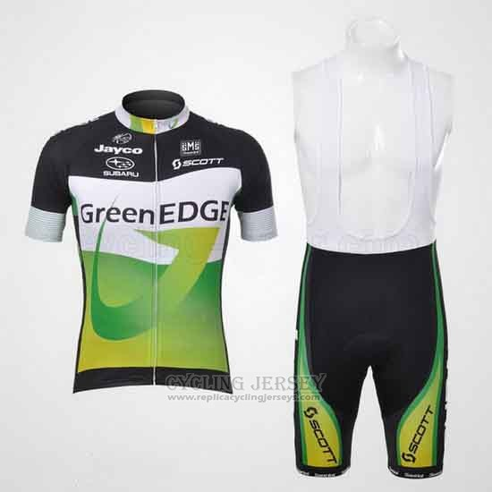 2012 Cycling Jersey GreenEDGE Black and Green Short Sleeve and Bib Short