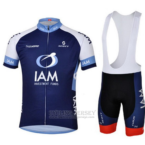 2013 Cycling Jersey IAM Blue Short Sleeve and Bib Short