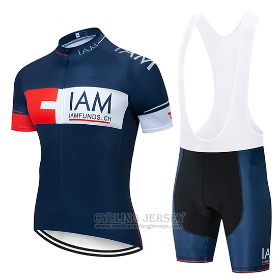 2019 Cycling Jersey IAM Blue Deep Short Sleeve and Bib Short