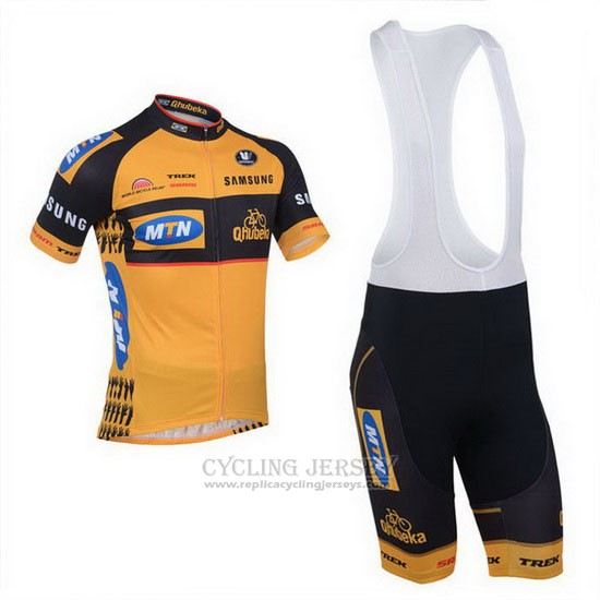 2013 Cycling Jersey MTN Orange Short Sleeve and Bib Short