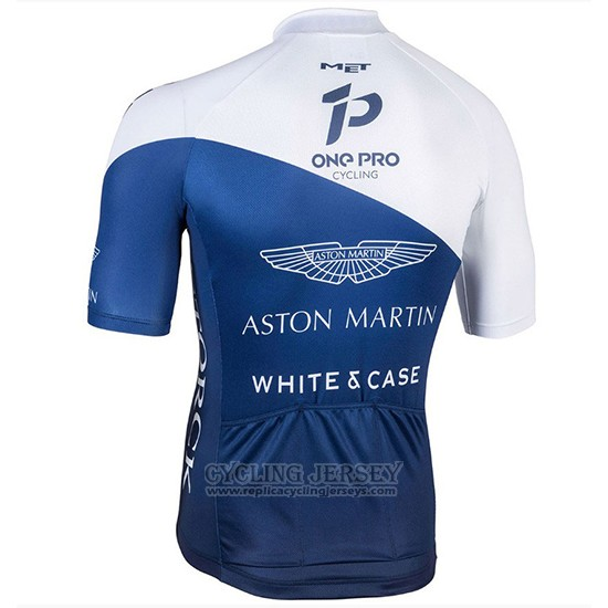 2018 Cycling Jersey One Pro White and Dark Bluee Short Sleeve and Bib Short