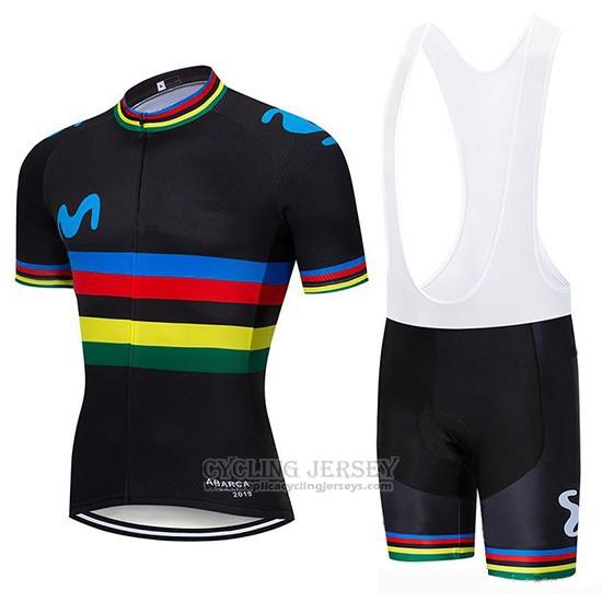 Completo ciclismo invernale felpato-UCI MOVISTAR-Cycling set jersey long set SD