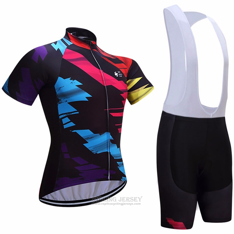 2017 Cycling Jersey UCI World Champion Lider Black Short Sleeve and Bib Short