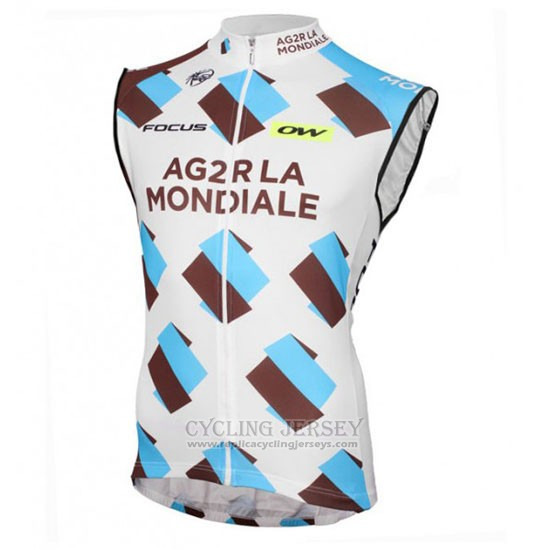 2016 Wind Vest Ag2rla White and Bluee