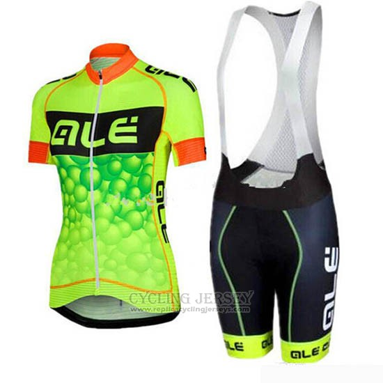 2019 Cycling Jersey Women ALE Yellow Short Sleeve and Bib Short