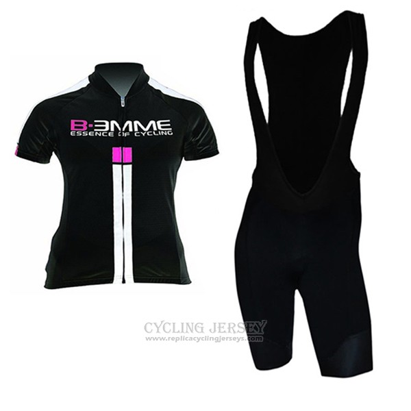 2017 Cycling Jersey Women Biemme Black and White Short Sleeve and Bib Short