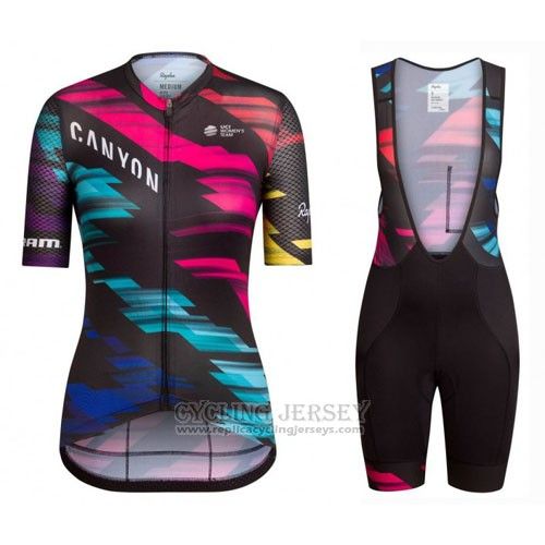 2016 Cycling Jersey Women Canyon Black and Red Short Sleeve and Bib Short