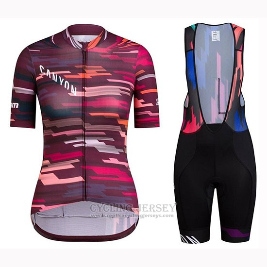 2019 Cycling Jersey Women Canyon Red Short Sleeve and Bib Short