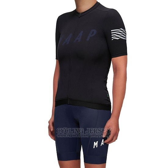 2019 Cycling Jersey Women Maap Escape Black Short Sleeve and Bib Short