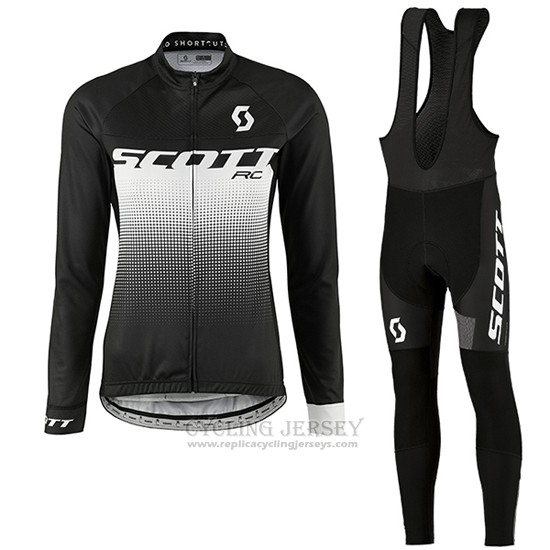 2016 Cycling Jersey Women Scott Green and White Long Sleeve and Bib Tight