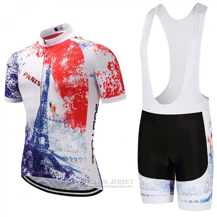 2018 Cycling Jersey Sobycle White Orange Blue Short Sleeve and Bib Short