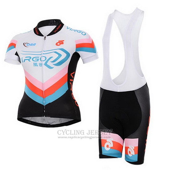 Cycling Jersey Women To The Fore Black and White Short Sleeve and Bib Short